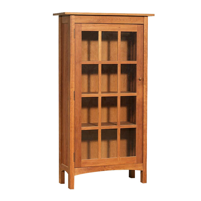 Книжный шкаф «Современный микс» со стеклянными дверцами