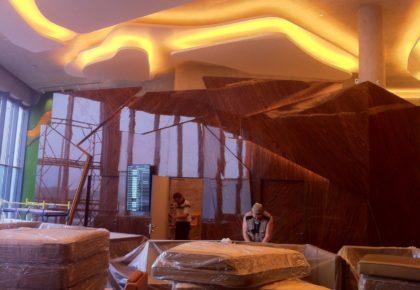 Стеновые панели из лакированного дерева